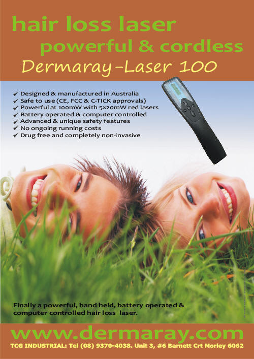 Dermaray Laser hair loss comb | Dermaray laser hair loss brush | Laser Comb | Laser Brush